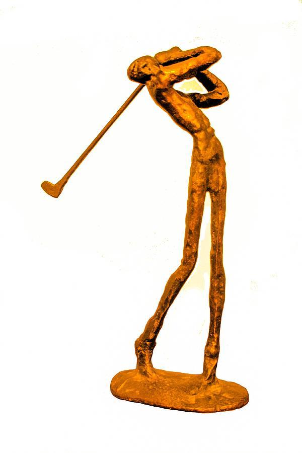 Golf Photograph - The Skinny Golfer by Tom Zukauskas