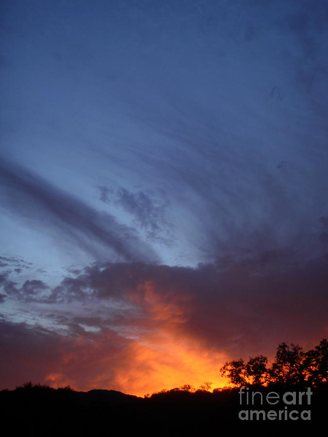 Sunset Photograph - The Sky Is On Fire  by Cullen Knappen