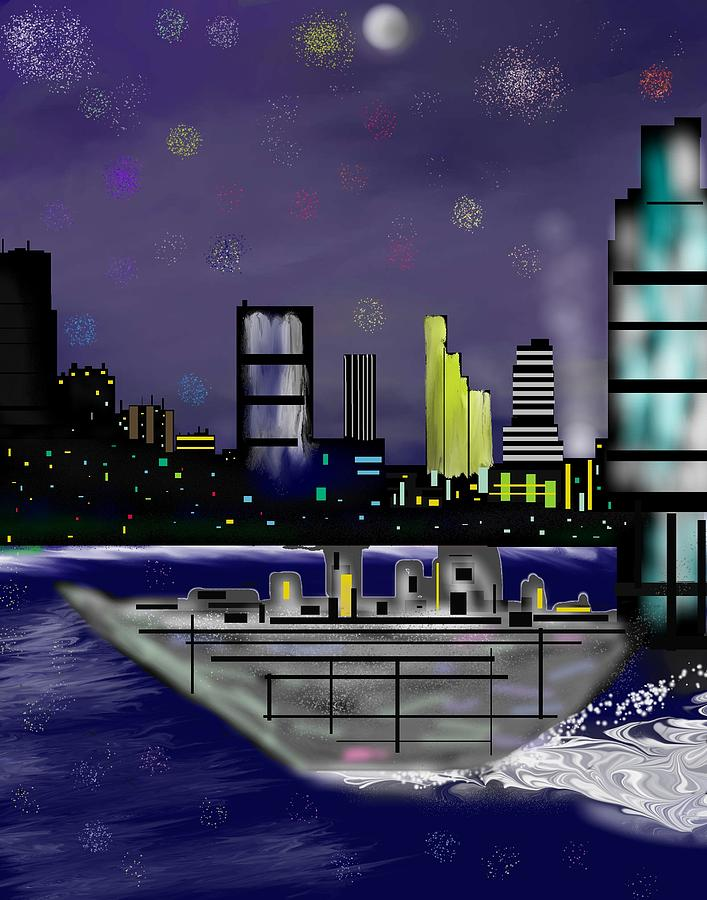 Cityscapes Digital Art - The Sky Is The Limit by Abel Padilla