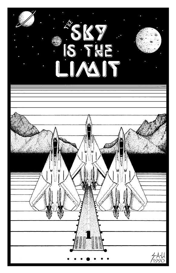 Jets Drawing - The Sky Is The Limit by Sheryl Unwin