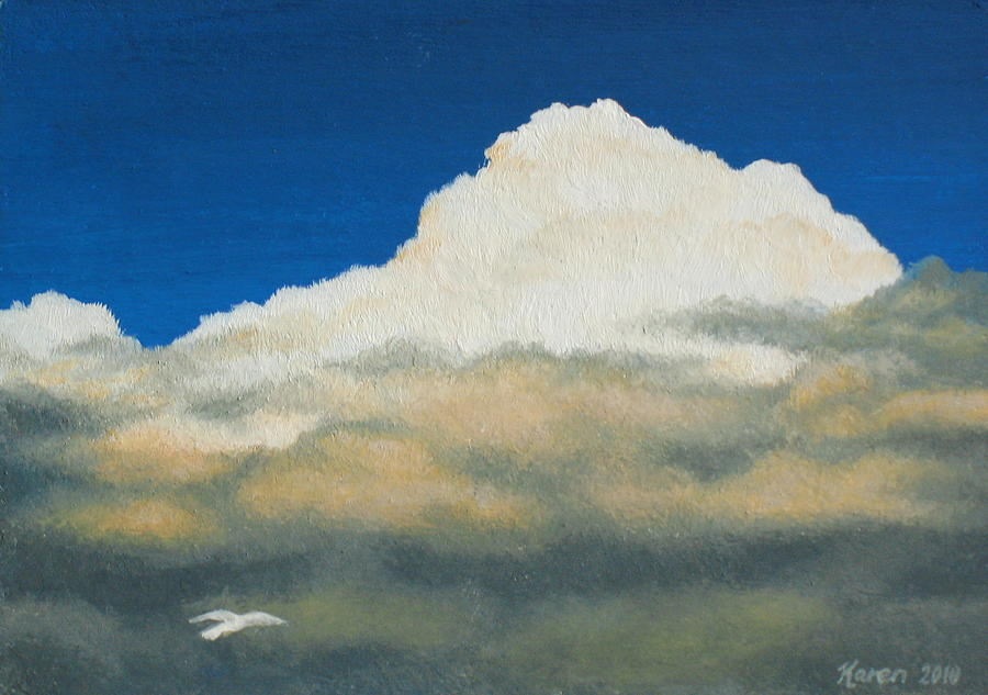 Sky Painting - The Skys The Limit by Karen Coombes