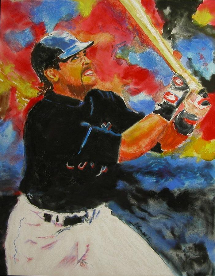 Baseball Pastel - The Slugger by Laura Gabel