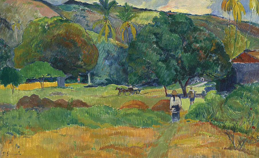 French Painters Painting - The Small Valley by Paul Gauguin