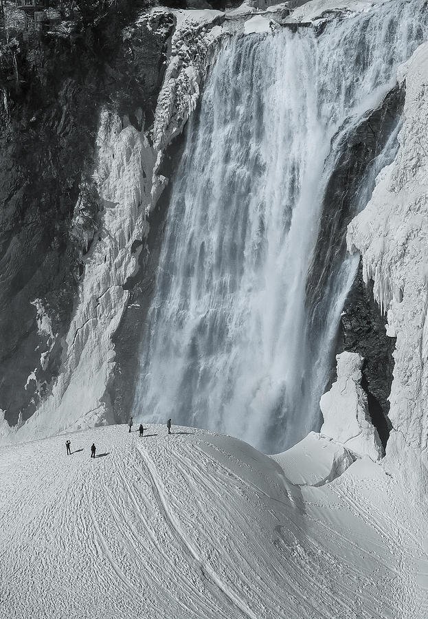Montmorency Photograph - The Smallness Of Man Against Nature by Mirek