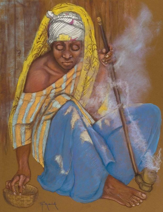 The Smoker Painting by Pamela Mccabe