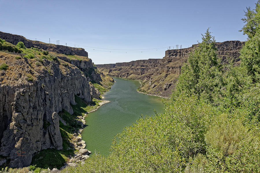 Canyons Photograph - The Snake River by Jim Thompson