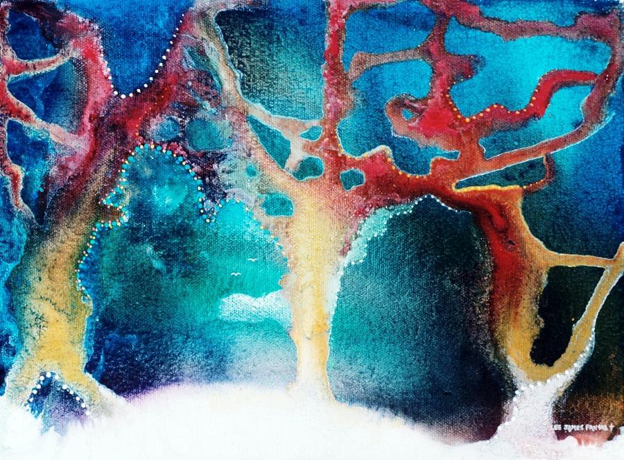 Spiritual Painting - The Snow Birds by Lee Pantas