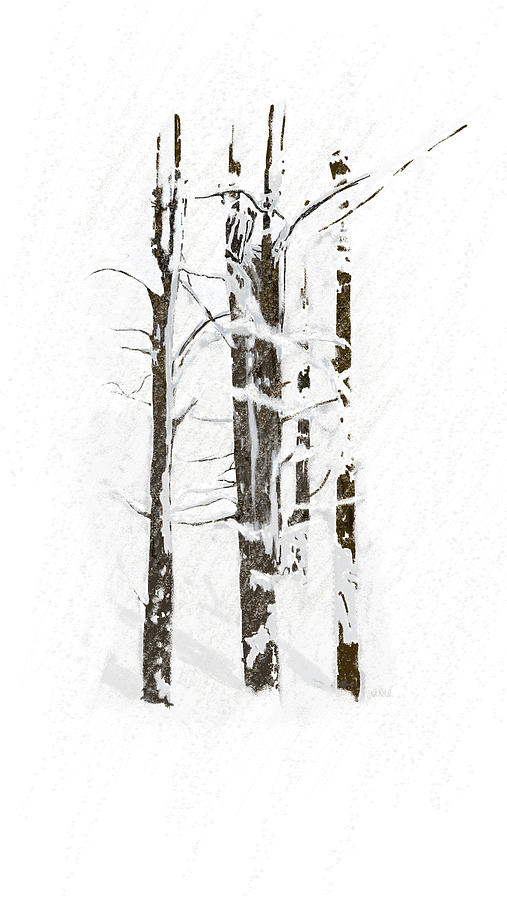 Angela A Stanton Painting - The Snow Just Wont Stop by Angela Stanton