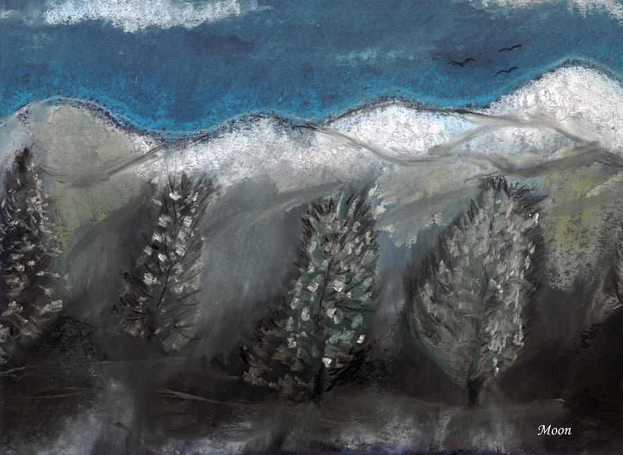 Trees Pastel - The Snow by Melvin Moon