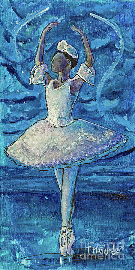 Ballerina Painting - The Snow Queen by TM Gand