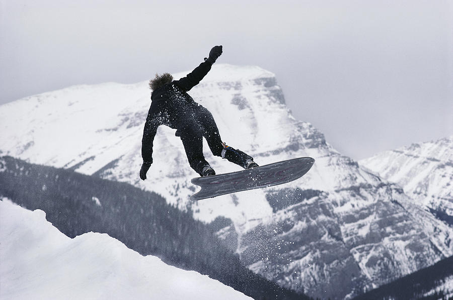 North America Photograph - The Snowboard Championships Were Held by George F. Mobley