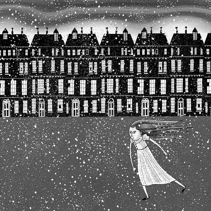 Snow Drawing - The Snowstorm  by Andrew Hitchen