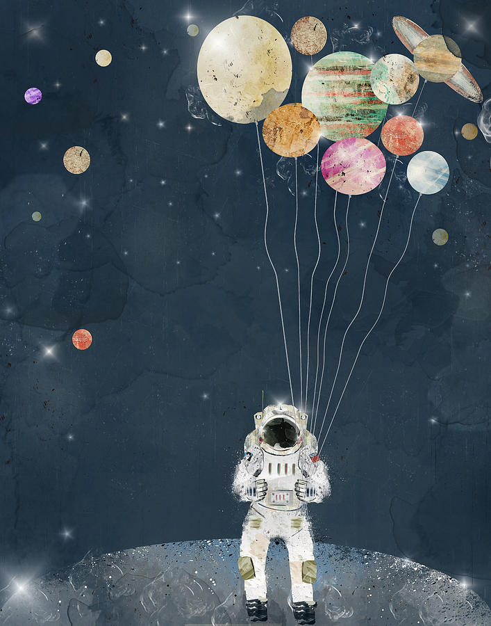 Space Painting - The Solar Collector by Bri Buckley