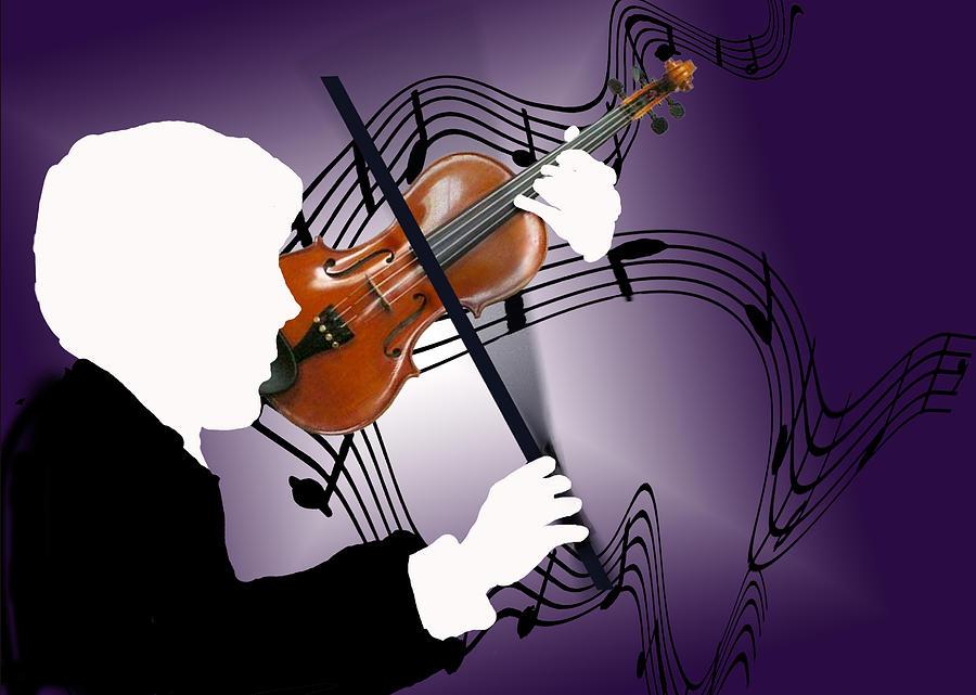 Violin Digital Art - The Soloist by Steve Karol