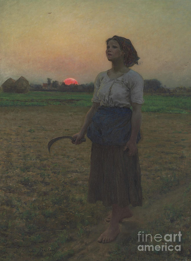 The Song Of The Lark Painting - The Song Of The Lark by Jules Breton