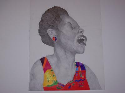 The Songtress Drawing by Glenn Isaac