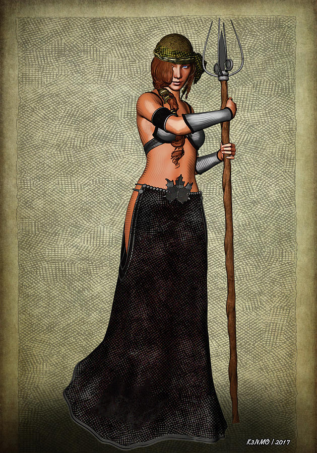 Fantasy Digital Art - The Sorceress Mage by Ken Morris