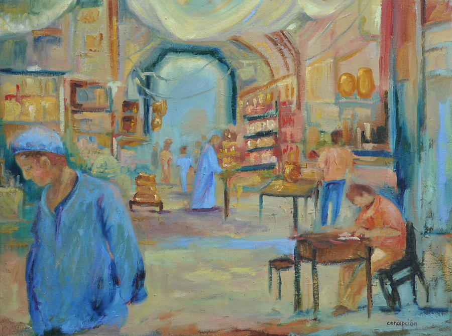 Figurative Painting - The Souk by Ginger Concepcion