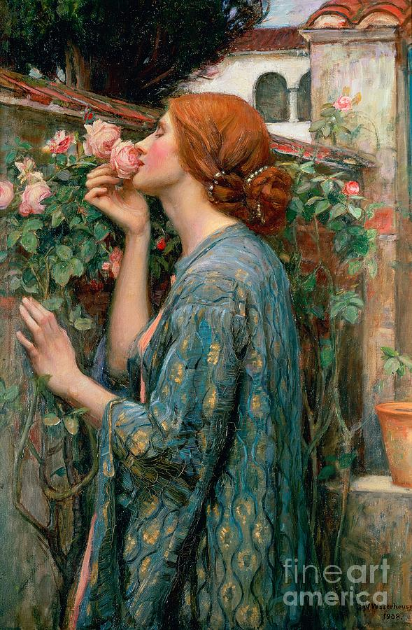 The Painting - The Soul Of The Rose by John William Waterhouse