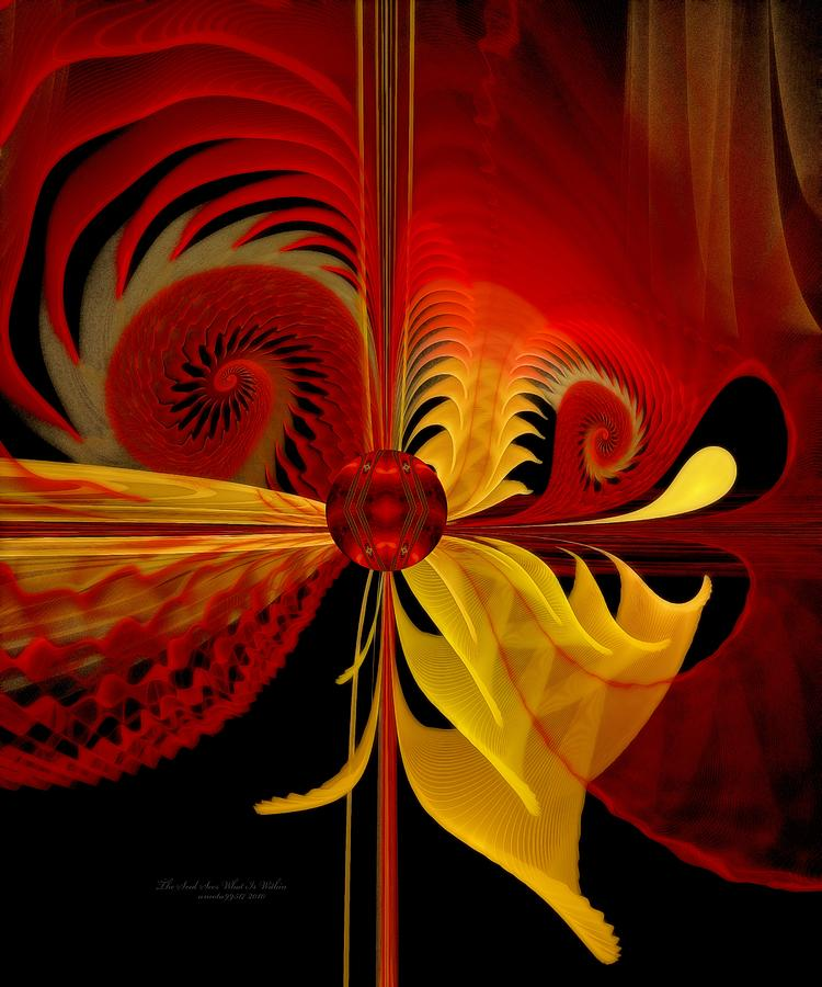 Fractal Digital Art - The Soul Sees What Is Within by Gayle Odsather
