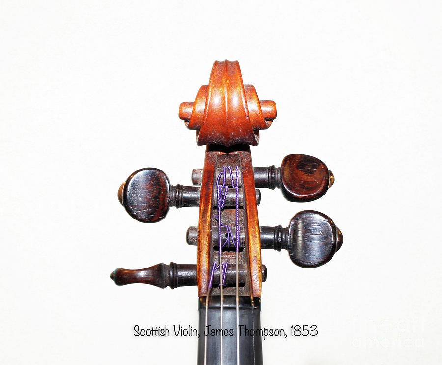 Violin Photograph - The Sound Of 1853 by Steven Digman