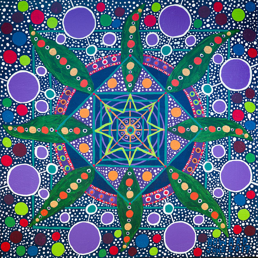 Geometry Painting - The Sound Of A Germinating Seed by Howard Charing