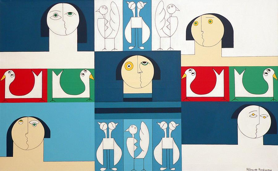 The Sound Of Birds Painting by Hildegarde Handsaeme