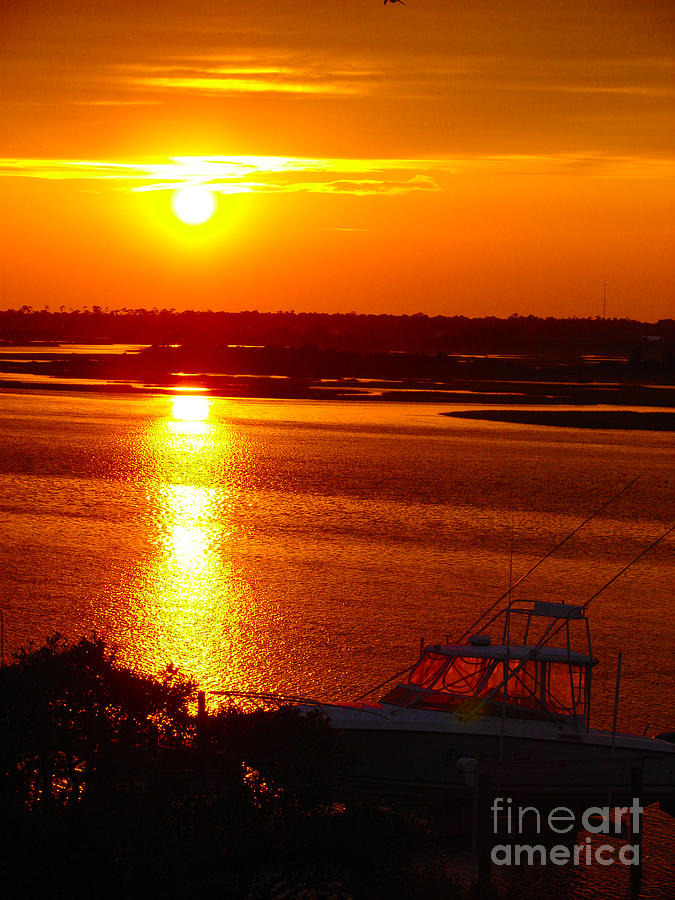 Topsail Photograph - The Sound Of Sunset by Laura Brightwood