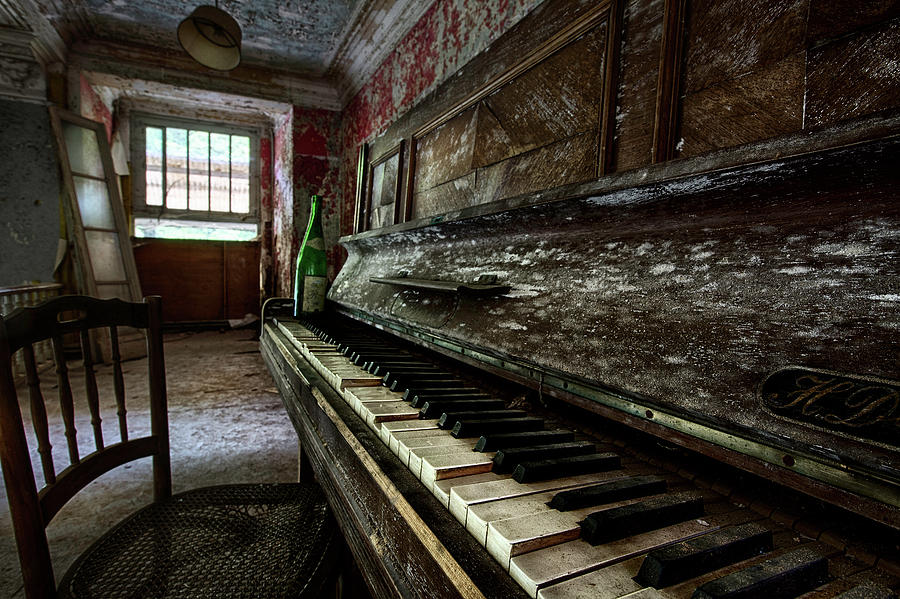 The Sound Of The Past Old Piano In Abandoned Building