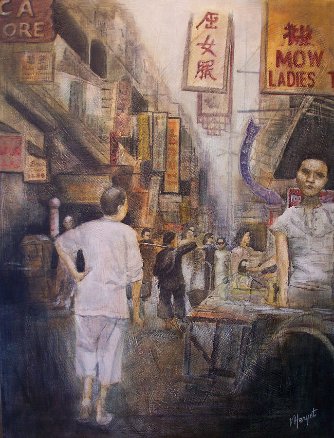Hong Kong Painting - The Soup Seller by Victoria Heryet