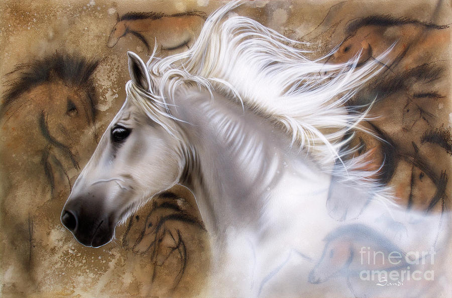 Horse Painting - The Source II by Sandi Baker