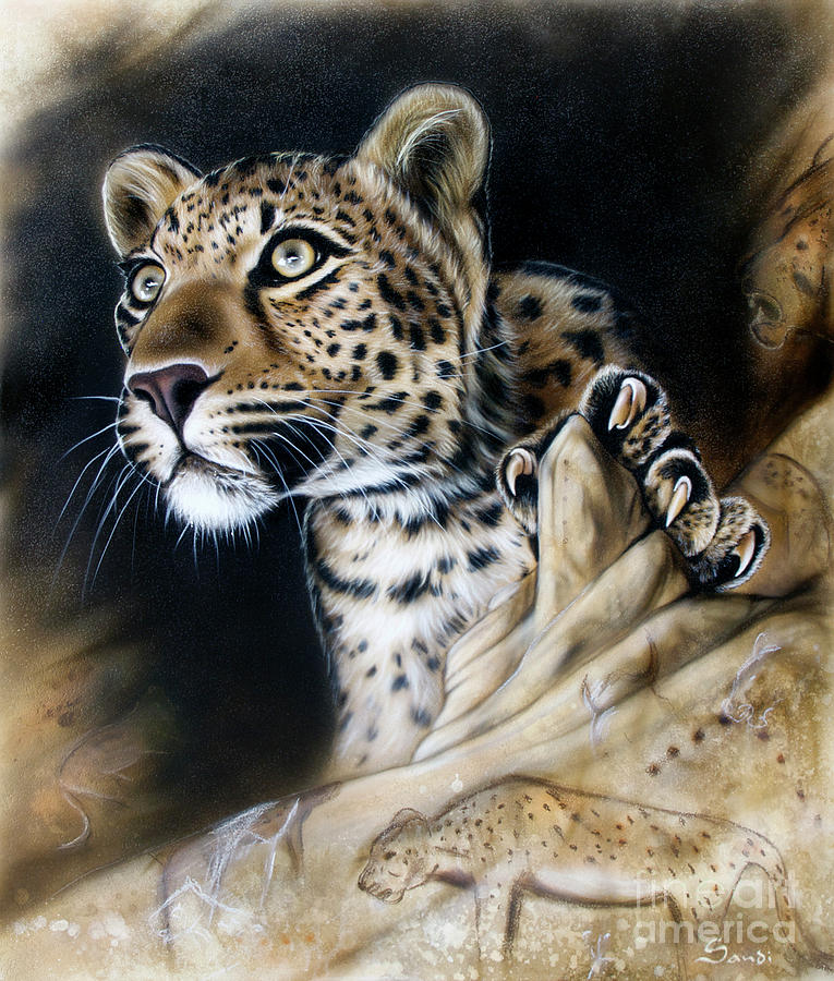 Leopard Painting - The Source IIi by Sandi Baker