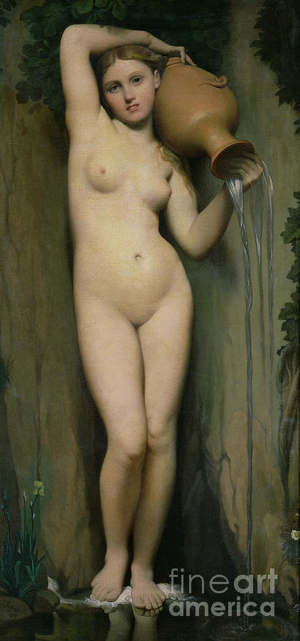 Nude Painting - The Source by Ingres
