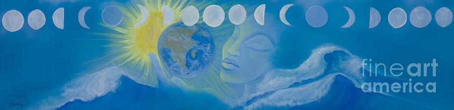 Yemaya  Painting - The Source  by Karen Feiling