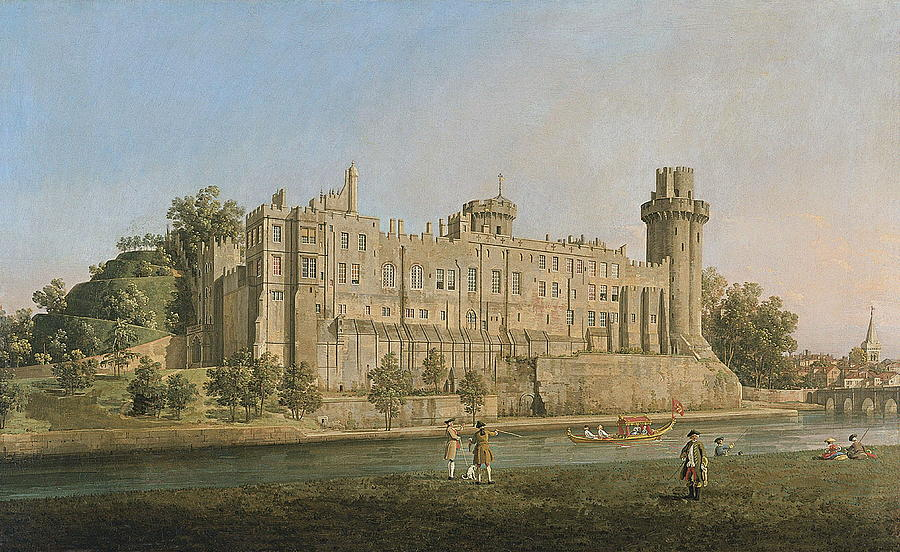 The South Facade Of Warwick Castle Painting By Canaletto