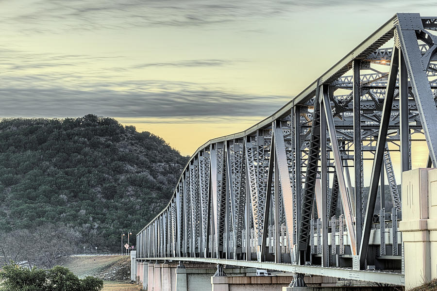 Llano River Photograph - The South Llano River Bridge by JC Findley