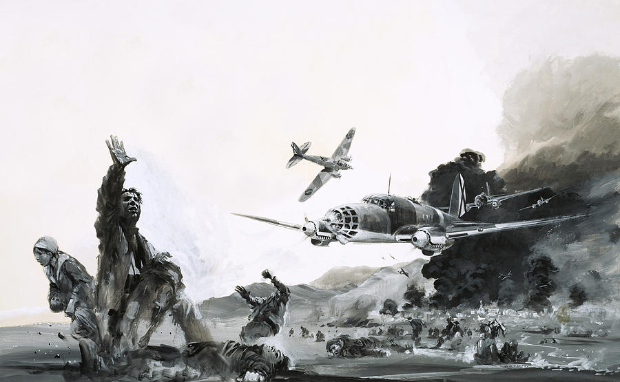 Spain Painting - The Spanish Civil War by Graham Coton