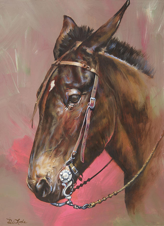 Mules Painting - The Spanish Mule by Mia DeLode
