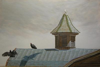 The Sparrow Painting by Robert Wisner