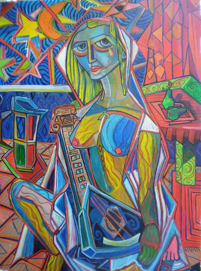 Cubist Painting - The Spartan by Steviej Edwards
