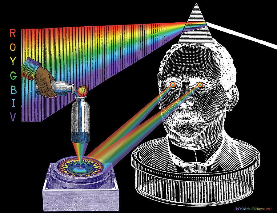 Multicolor Digital Art - The Spectre Of Chromatopia by Eric Edelman