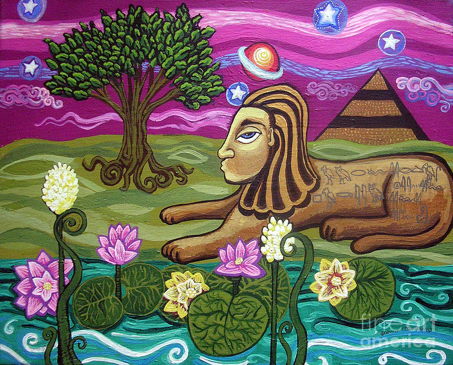 Egypt Painting - The Sphinx by Genevieve Esson