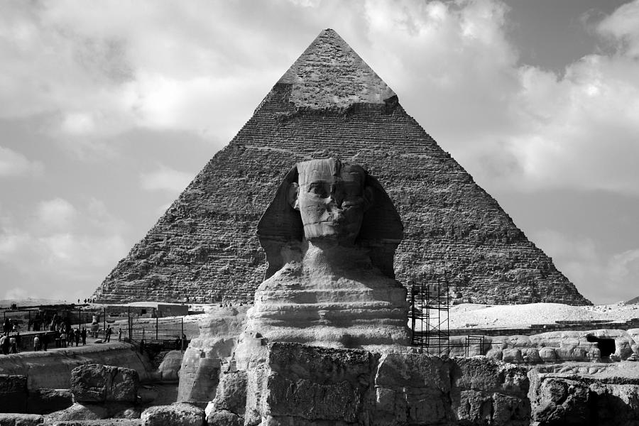 Pyramid Photograph - The Sphynx And The Pyramid by Donna Corless