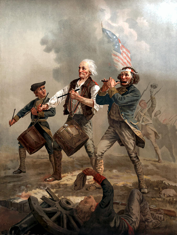 Yankee Doodle Painting - The Spirit Of 76 by War Is Hell Store