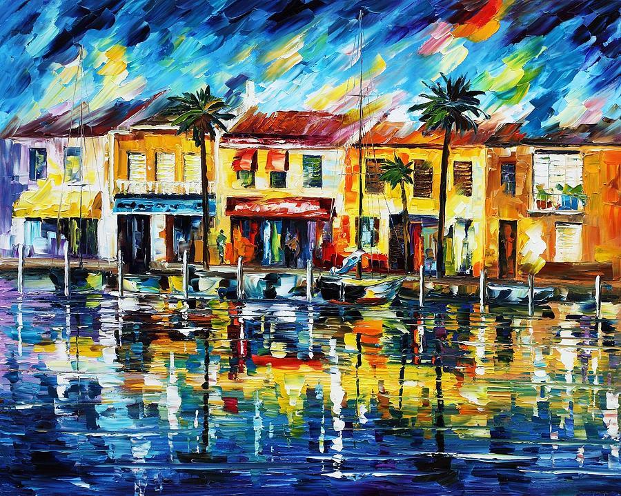 Afremov Painting - The Spirit Of Miami  by Leonid Afremov