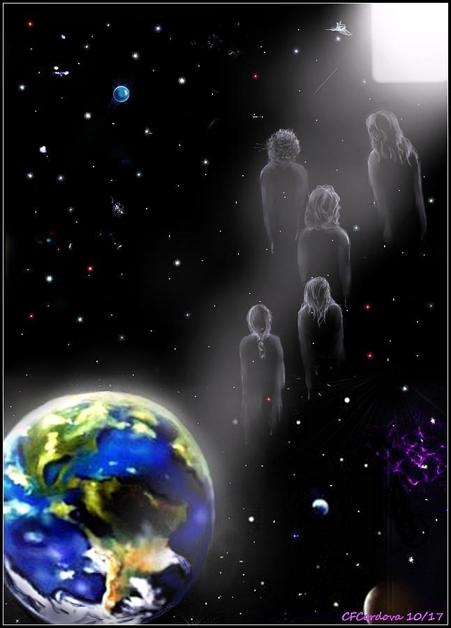 Spiritual Digital Art - The Spiritual  Journey  by Carmen Cordova