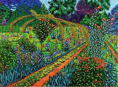 Landscape Painting - The Splendour Of Giverny by Max R Scharf