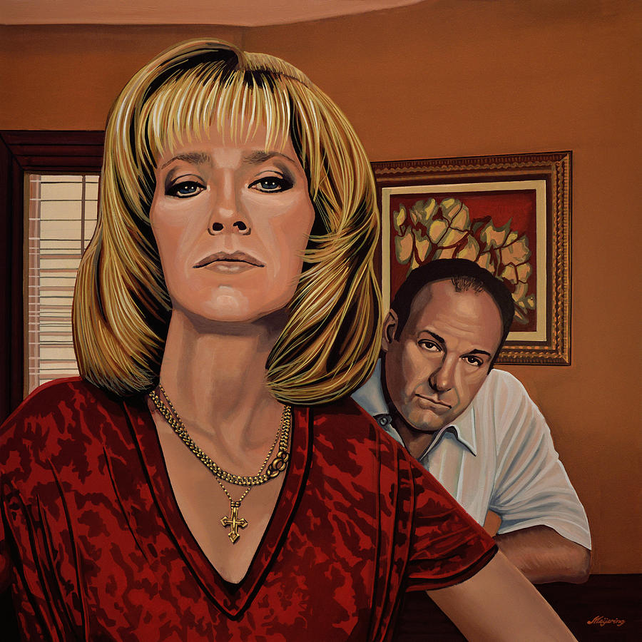 the sopranos painting painting by paul meijering