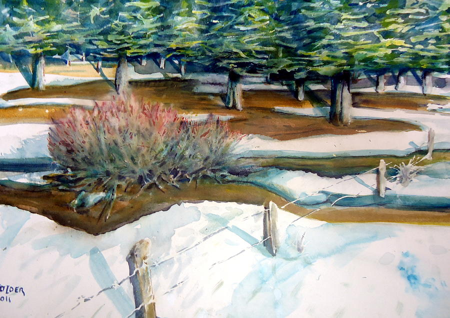 Forests Painting - The Spring Thaw by Steven Holder