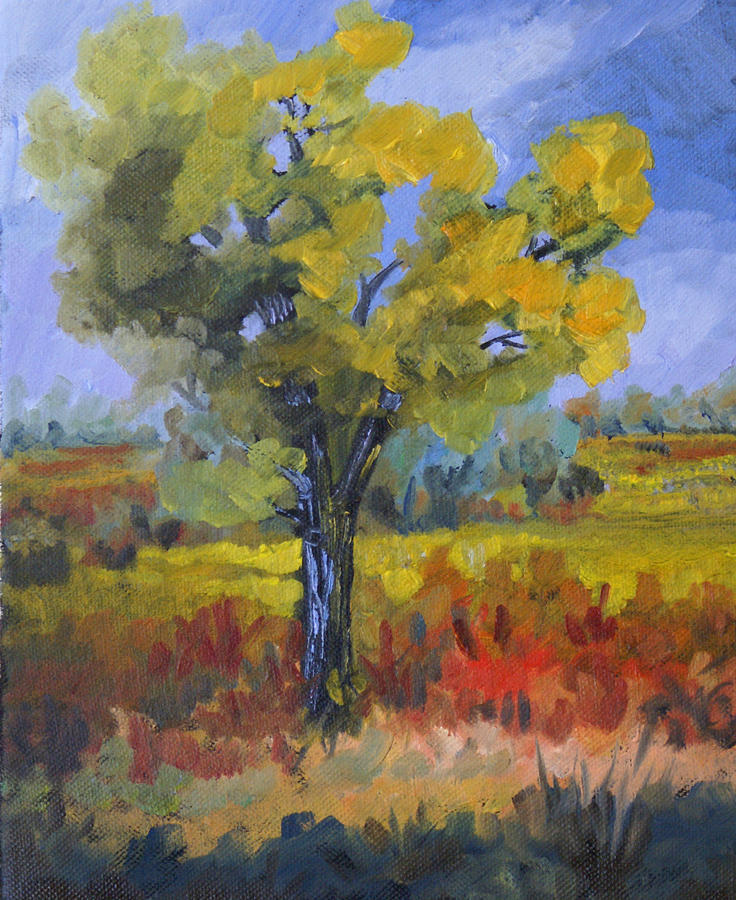 Spring Painting - The Spring Tree by Heather Coen